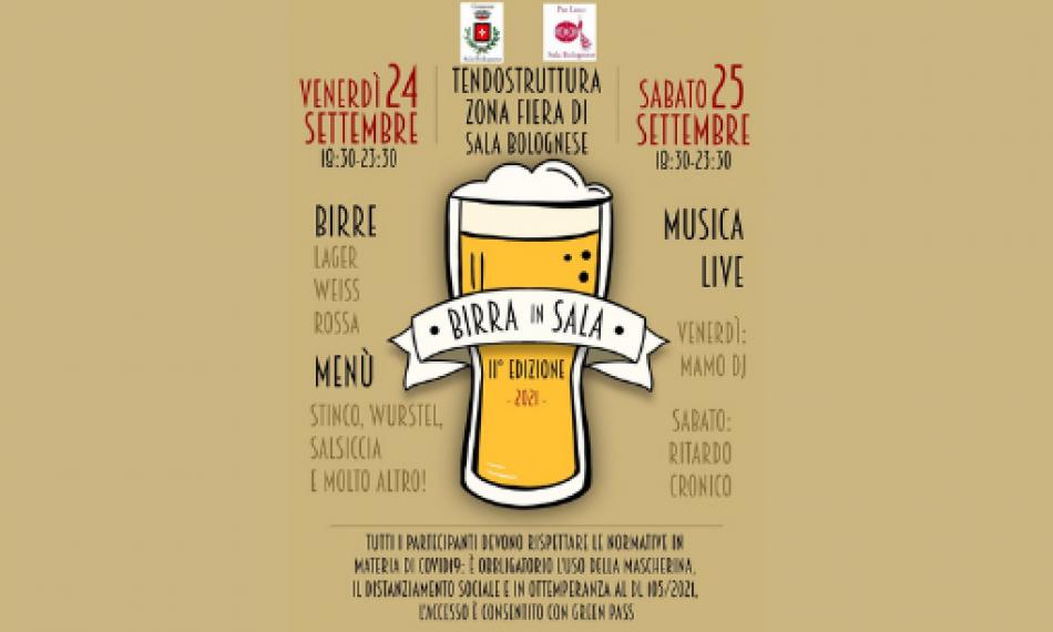 undicesima edizione birra in sala festa della birra a Sala Bolognese
