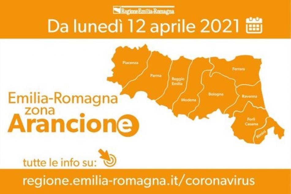 Emilia Romagna in Zona Arancione dal 12 Aprile